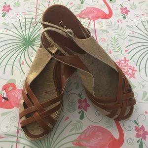 Lauren Ralph Lauren Women's wedge sandals size 9M